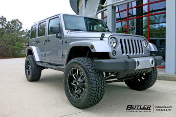 Jeep Wrangler with 20in Fuel Cleaver Wheels