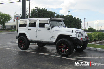 Jeep Wrangler with 20in Fuel Contra Wheels