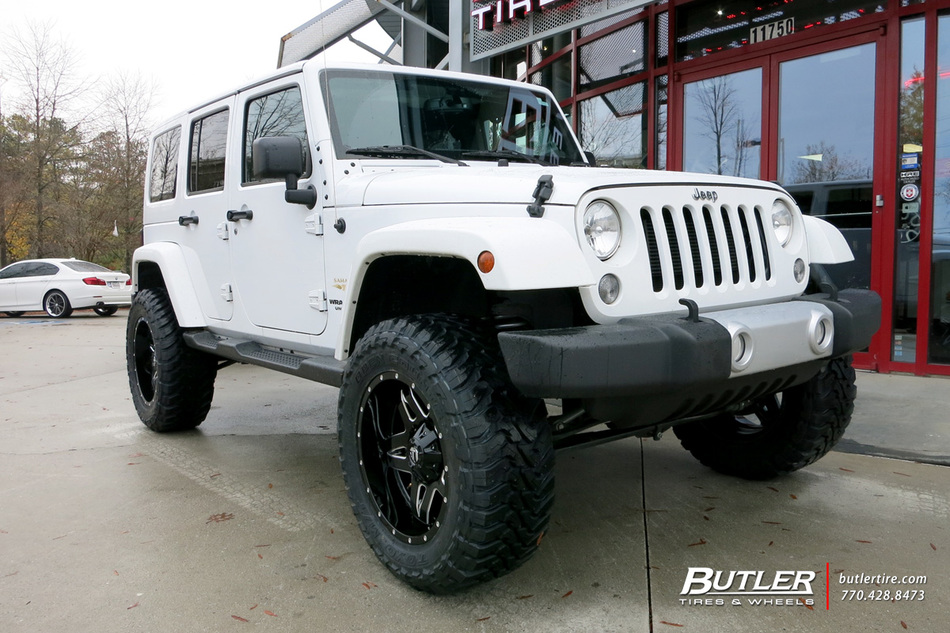 Jeep Wrangler Rims And Tire Packages >> Jeep Wrangler with 20in Fuel Full Blown Wheels exclusively ...