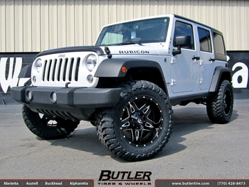 Jeep Wrangler with 20in Fuel Full Blown Wheels