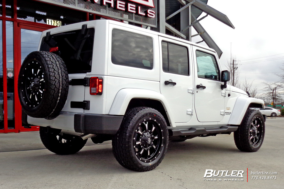 Jeep Wrangler with 20in Fuel Krank Wheels
