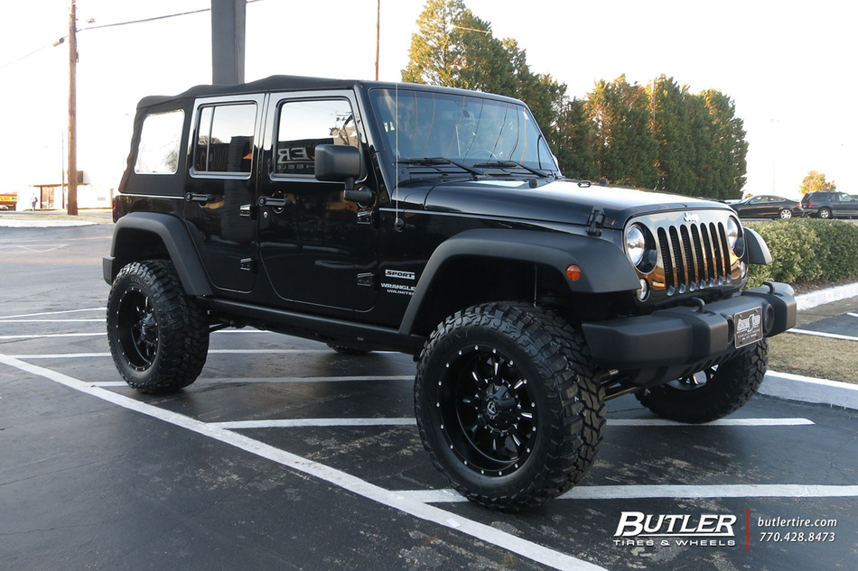 Jeep Wrangler With 20in Fuel Krank Wheels Exclusively From