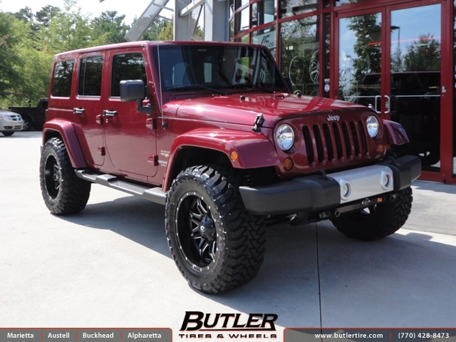 Jeep Wrangler with 20in Fuel Lethal Wheels