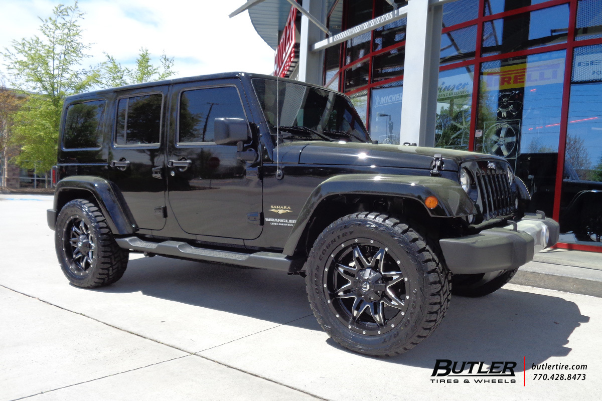 jeep wrangler with 20in fuel lethal wheels exclusively. Black Bedroom Furniture Sets. Home Design Ideas