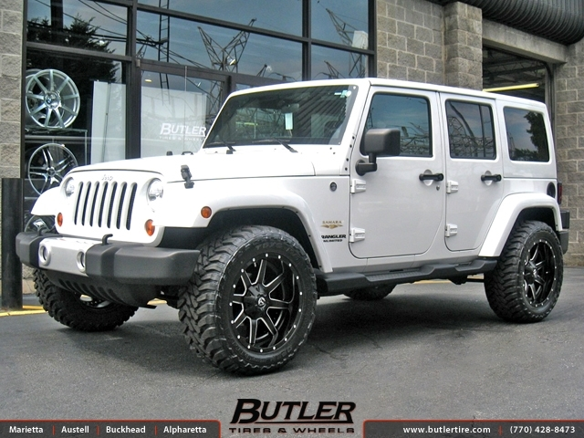 Jeep Wrangler Rims And Tire Packages >> Jeep Wrangler With 20in Fuel Maverick Wheels Exclusively From Butler