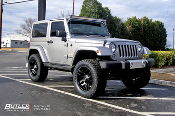 Jeep Wrangler with 20in Fuel Pump Wheels
