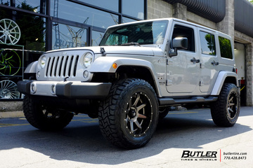 Jeep Wrangler with 20in Fuel Rampage Wheels