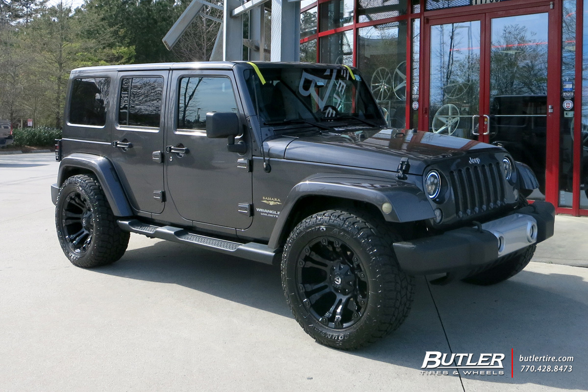 Jeep Wrangler With 20in Fuel Vapor Wheels Exclusively From