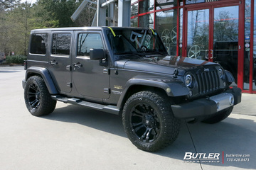 Jeep Wrangler with 20in Fuel Vapor Wheels