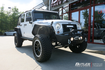 Jeep Wrangler with 20in Fuel Vector Wheels