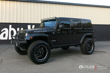Jeep Wrangler with 20in Grid Offroad GD2 Wheels