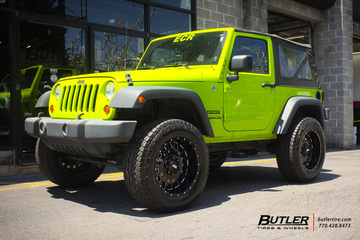 Jeep Wrangler with 20in Grid Offroad GD3 Wheels