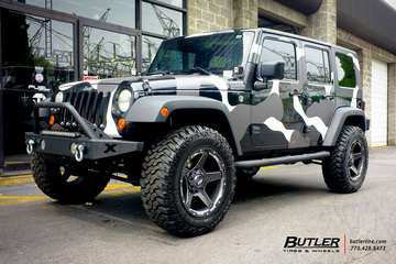 Jeep Wrangler with 20in Grid Offroad GD4 Wheels