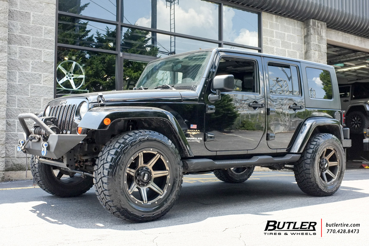 Jeep Wrangler with 20in Grid Offroad GD6 Wheels