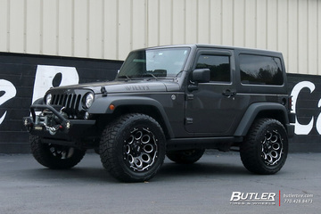 Jeep Wrangler with 20in Grid Offroad GD8 Wheels