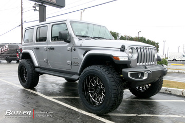 Jeep Wrangler with 22in Black Rhino Pismo Wheels