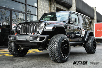 Jeep Wrangler with 22in Dropstar 654 Wheels