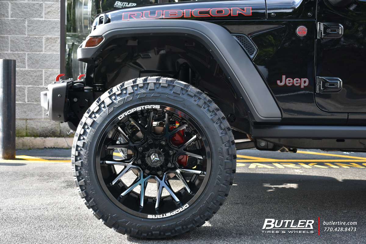 Jeep Wrangler With 22in Dropstar 654 Wheels Exclusively