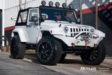 Jeep Wrangler with 22in Fuel Cleaver Wheels