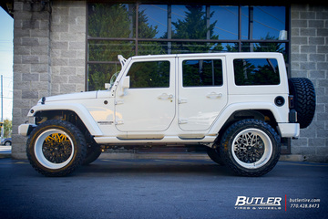 Jeep Wrangler with 22in Fuel FF06 Wheels