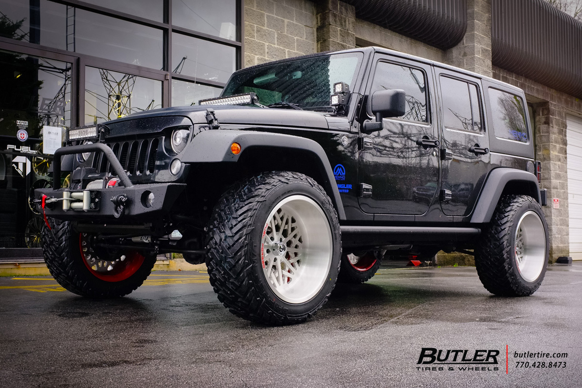 Jeep Wrangler With 22in Fuel Ff16 Wheels Exclusively From