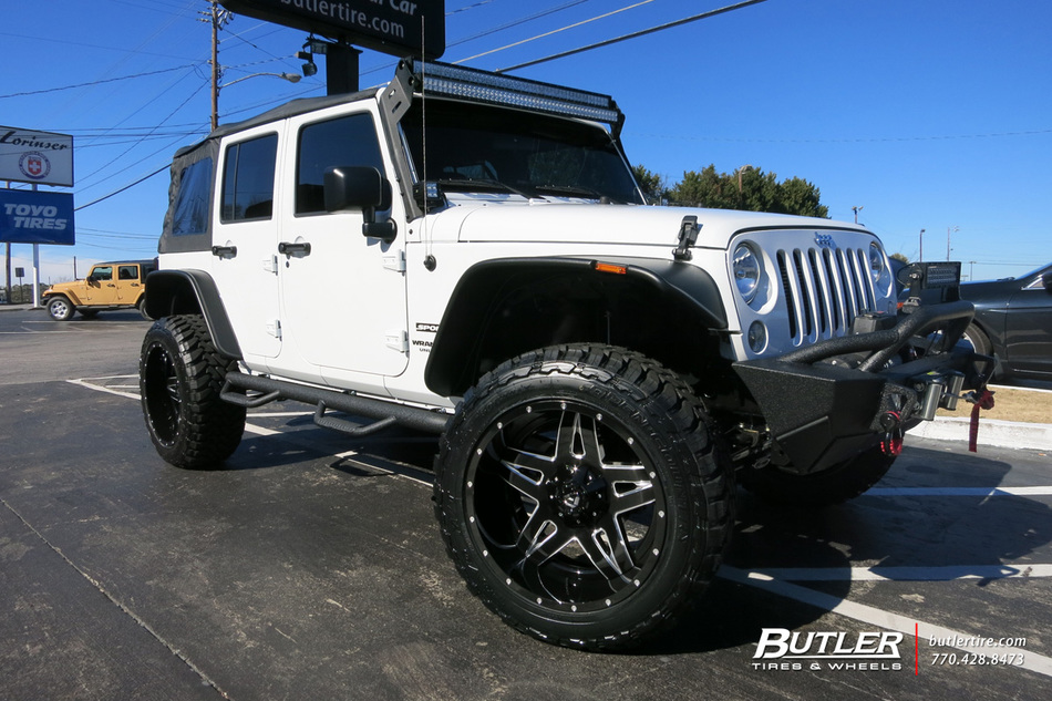 Jeep Wrangler With 22in Fuel Full Blown Wheels Exclusively