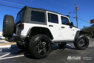 Jeep Wrangler with 22in Fuel Full Blown Wheels