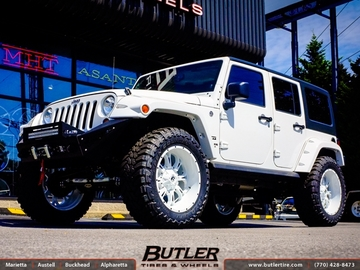 Jeep Wrangler with 22in Fuel Krank Wheels