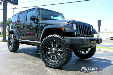 Jeep Wrangler with 22in Fuel Throttle Wheels