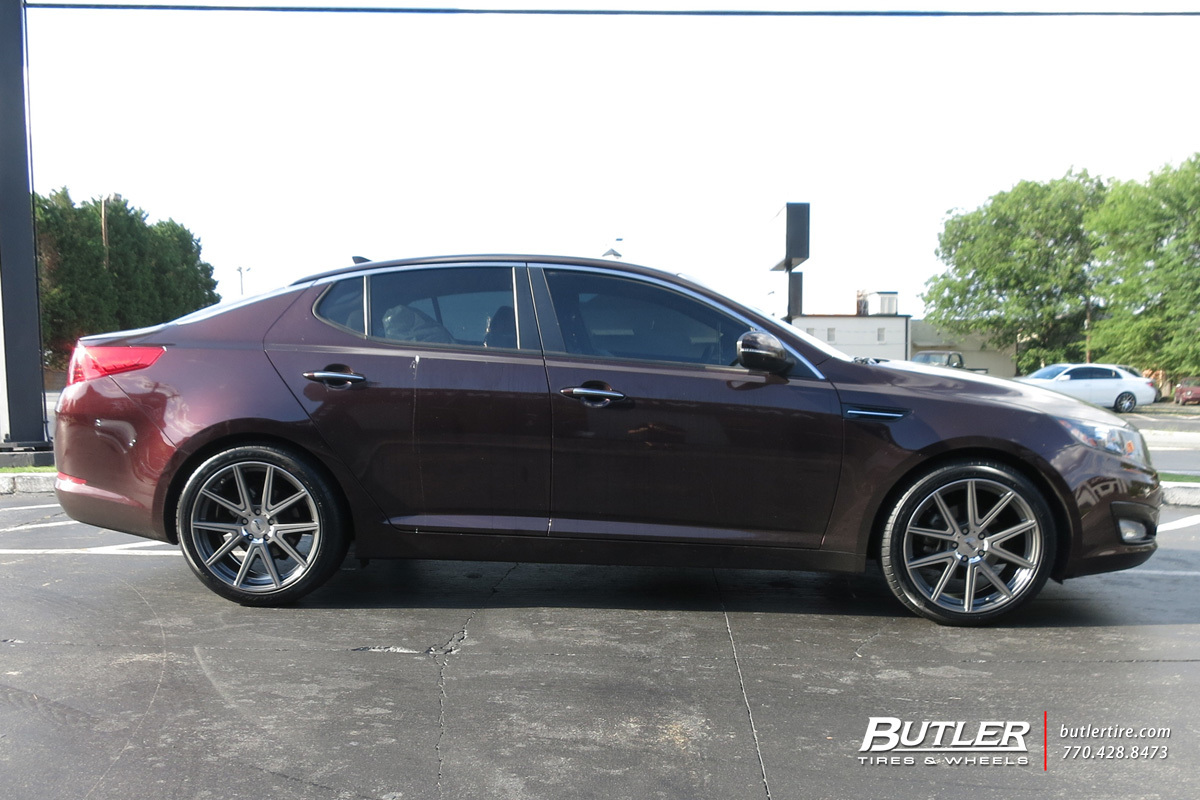 Kia Optima with 19in TSW Rouge Wheels