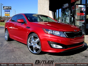 Kia Optima with 20in DUB Drone Wheels