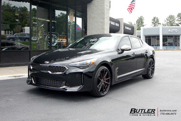 Kia Stinger with 19in XO Madrid Wheels