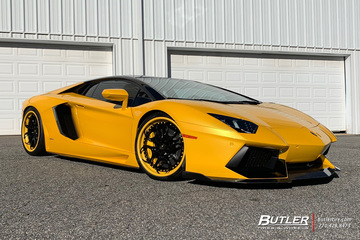 Lamborghini Aventador with 21in AG Luxury AGL46 Wheels