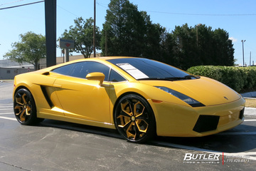 Lamborghini Gallardo with 20in Forgiato F2 09 Wheels