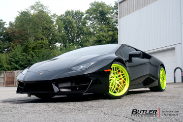 Lamborghini Huracan with 21in Vossen ML-R3 Wheels