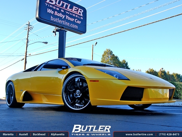 Lamborghini Murcielago with 20in GFG Narkid Wheels