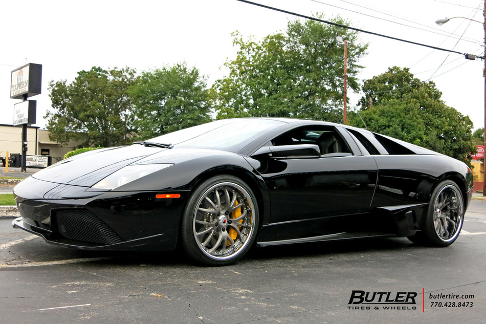 lamborghini murcielago   kinesis  wheels exclusively  butler tires  wheels