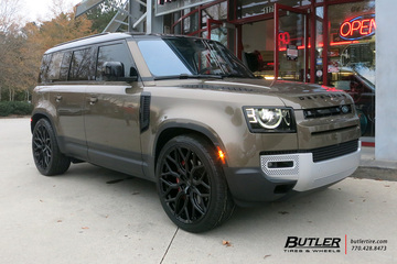 Land Rover Defender with 24in Vossen HF-2 Wheels