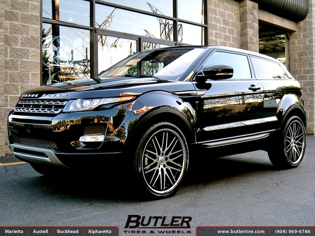 Land Rover Evoque with 22in Lexani CVX 44 Wheels