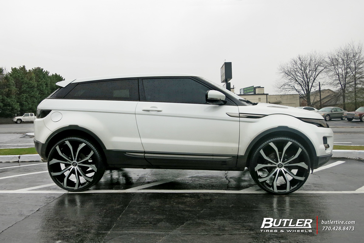 Land Rover Evoque with 24in Lexani Lust Wheels