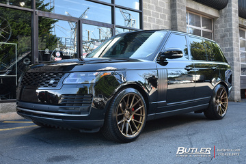 Land Rover Range Rover with 22in Avant Garde AGL-Vanquish Wheels
