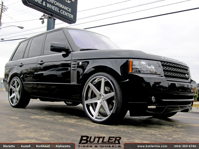 Land Rover Range Rover with 24in DUB 1 Six Wheels