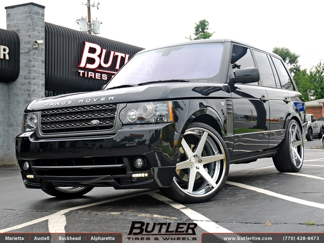 Land Rover Range Rover with 24in DUB 1 Six Wheels ...