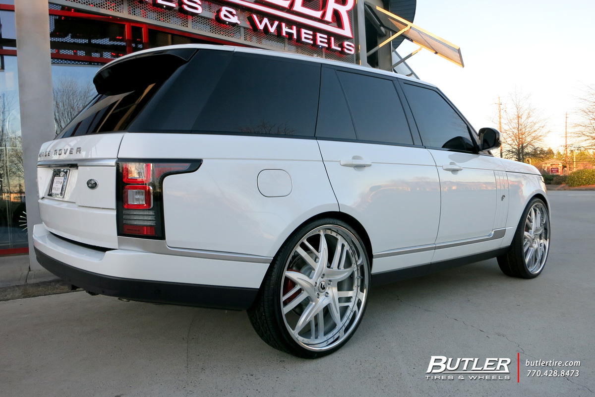 Land Rover Range Rover with 26in Forgiato Finestra Wheels