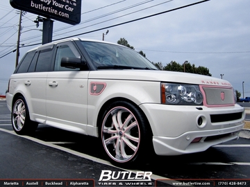 Land Rover Range Rover Sport with 22in Lexani LSS55 Wheels