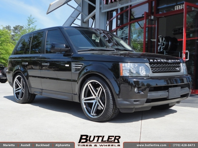 Land Rover Range Rover Sport with 22in Lexani R-Five Wheels