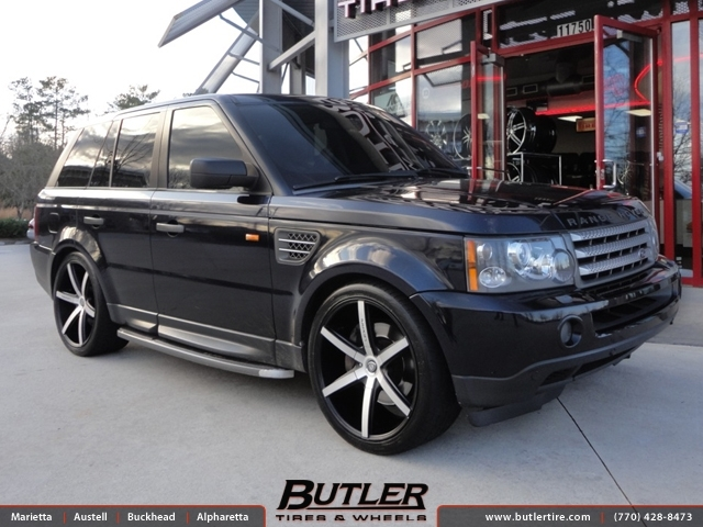 Land Rover Range Rover Sport with 22in Lexani R-Six Wheels