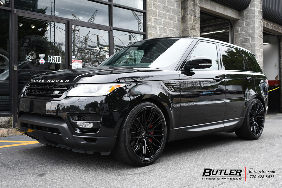 Land Rover Range Rover Sport with 22in Savini BM13 Wheels exclusively from Butler Tires and ...