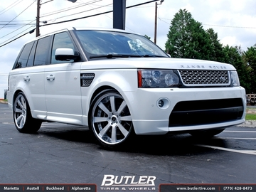Land Rover Range Rover Sport with 22in Savini SV28c Wheels
