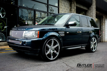 Land Rover Range Rover Sport with 24in Lexani R-Six Wheels